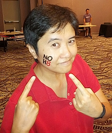 NOH8 Tattoo Model